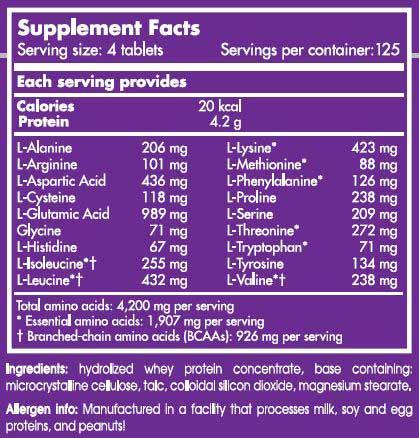 etiqueta informacion nutricional amino 5600