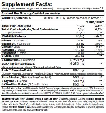 etiqueta informacion nutricional re cuper supplement facts
