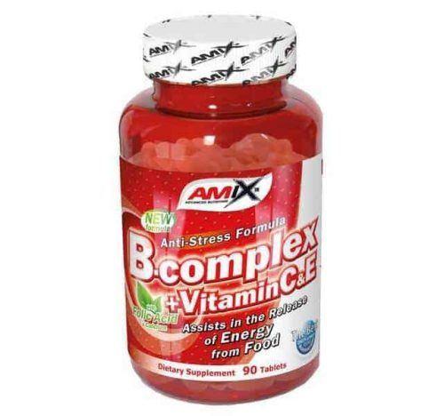 Suplemento vitamínico B-Complex 90 cápsulas de Amix