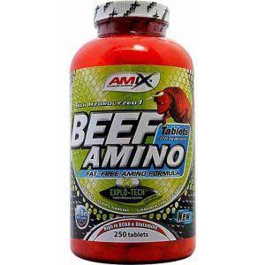 Suplemento de aminoácidos Beef Amino 250 cápsulas de Amix