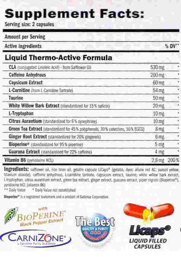 etiqueta informacion nutricional Amix lipolean label