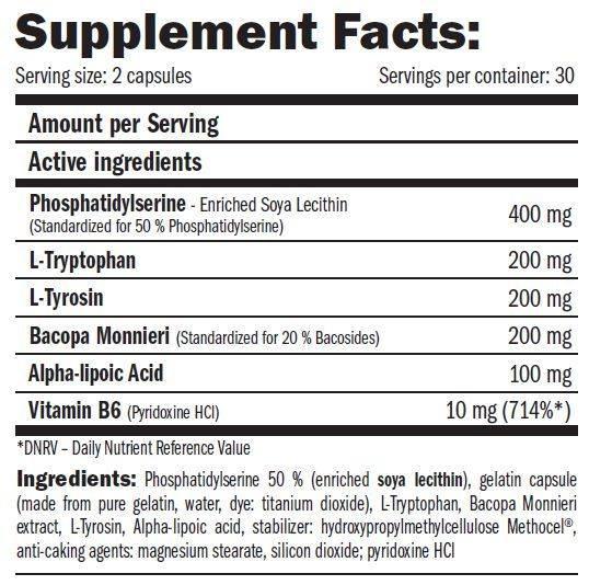 etiqueta informacion nutricional the cortisol blockers amix