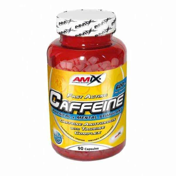 Suplemento energético Cafeína +Taurina 90 cápsulas