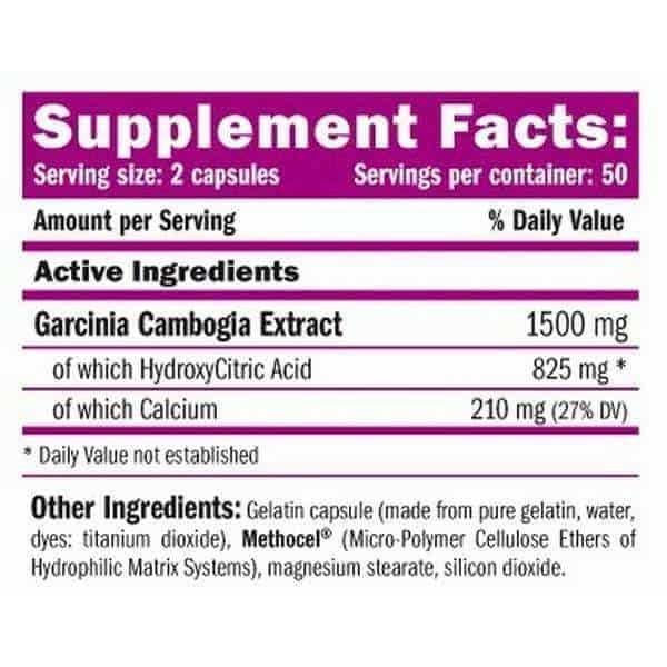 etiqueta informacion nutricional hca