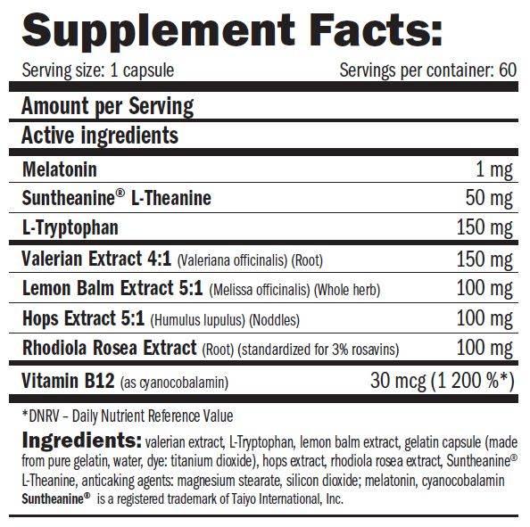 etiqueta informacion nutricional mellanox sleep