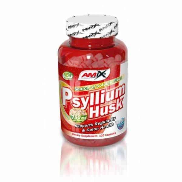 Suplemento deportivo Psyllium Husk 1500 mg 120 cápsulas