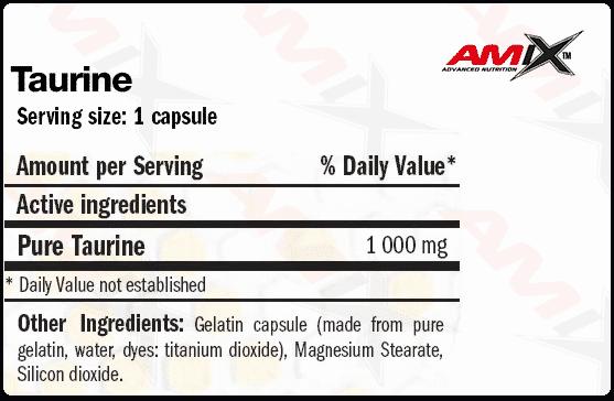 etiqueta informacion nutricional taurine