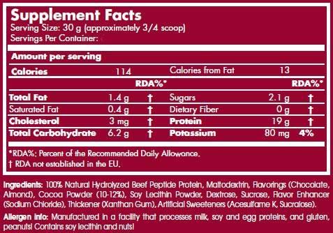 etiqueta informacion nutricional scitec 100 beef concentrate