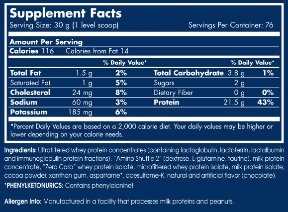 etiqueta informacion nutricional anabolic whey