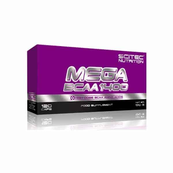 Mega BCAA 1400 de Scitec Nutrition 120 caps