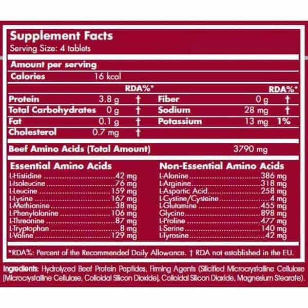 etiqueta informacion nutricional scitec beef