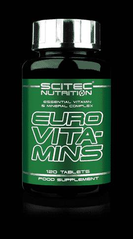 Suplemento vitaminas Euro Vita-Mins 120 tabletas