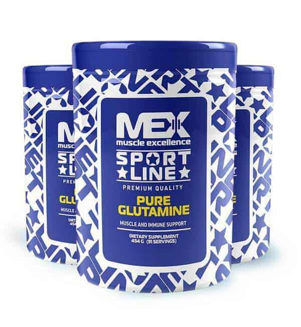 Pure glutamine suplemento deportivo Mex Muxcle excellence