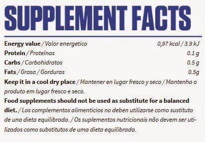 información nutricional Adrenaline FX