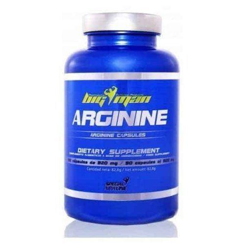 Cápsulas de suplemento de aminoácidos Arginine 90 Caps Bigman