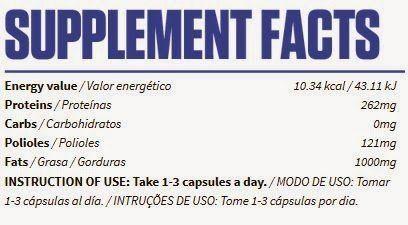 información nutricional Cla 1000
