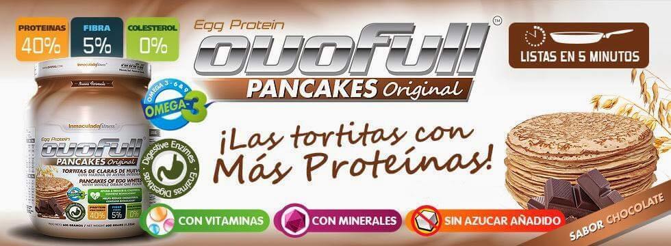 Dieta para ganar masa muscular Pancakes Ovofull