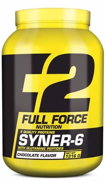 Suplemento de proteínas sabor chocolate syner 6 full force