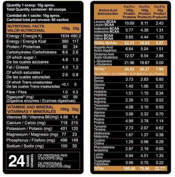 información nutricional xtreme ovofull infor