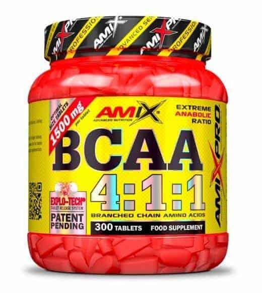 BCAA 4:1:1 de amix pro son aminoácidos ramificados que contienen 4 veces mas L-Leucina que L-Valina promoviendo el crecimiento muscular.