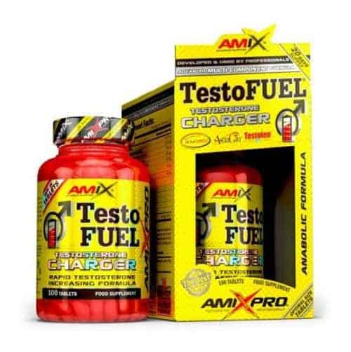 Testofuel de Amix Pro un anabolico natural que te ayudará a incrementar los niveles de testosterona.