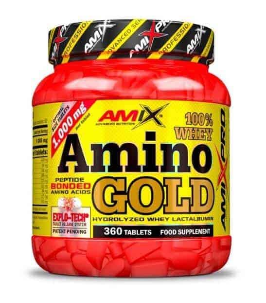 Whey Amino Gold otros aminoácidos procedentes de la proteína de suero de leche de máxima calidad.