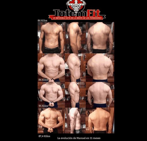Cambio físico de nuestro cliente Manuel Angel