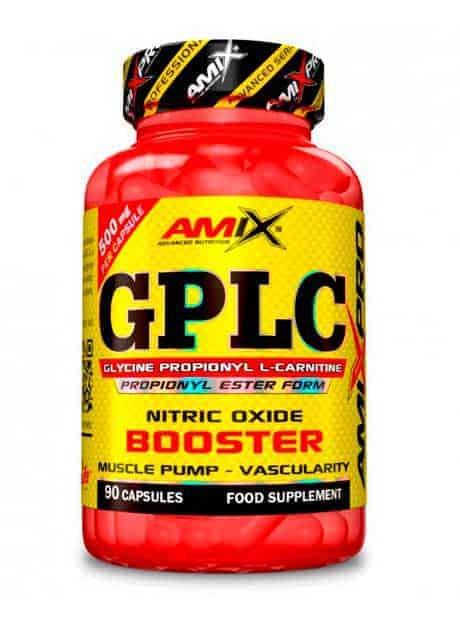 GPLC es un pre entreno de oxido Nitrico sin creatina de Amix Pro