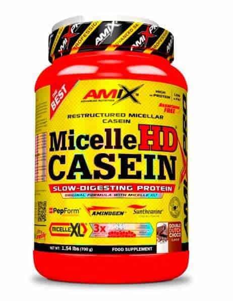 Micelle HD Casein de Amix Pro la mejor proteína nocturna