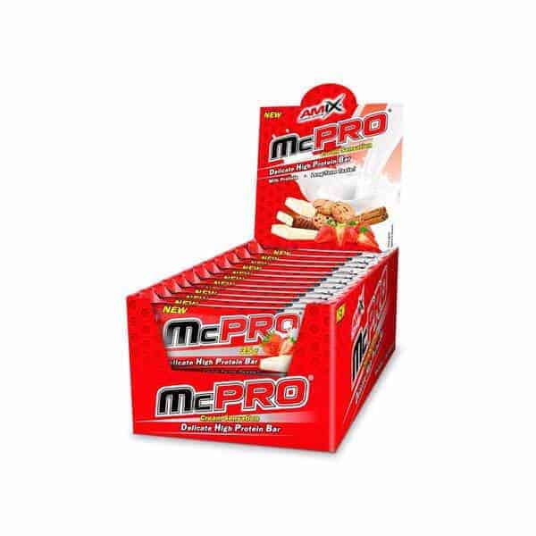 McPro Protein Bar de Amix nutrition son barritas de proteínas