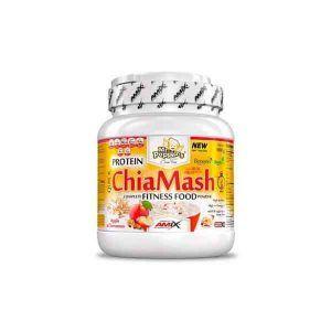 Protein Chiamash de Amix Mr Popper's es un compuesto alto en fibra con carbohidratos y proteínas.