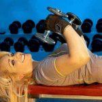 tabla de ejercicios con mancuernas