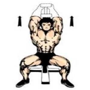 triceps tras nuca con mancuerna