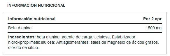 beta-alanina-namedsport-informacion-nutricional
