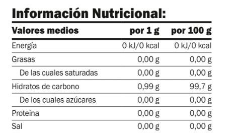 stevia-500-gr-amix-información-nutricional