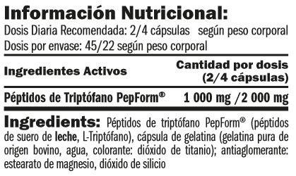 tryptophan-pepform-peptides-90-caps-informacion-nutricional
