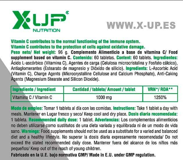 C-1000-X-UP-Green-informacion-nutricional