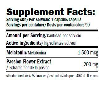 Relax+-Melatonine-amix-performance-informacion-nutricional