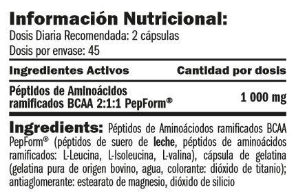 bcaa-pepform-peptides-90-caps-informacion-nutricional