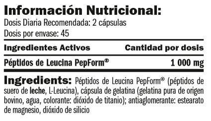 leucine-pepform-peptides-90-caps-información-nutricional
