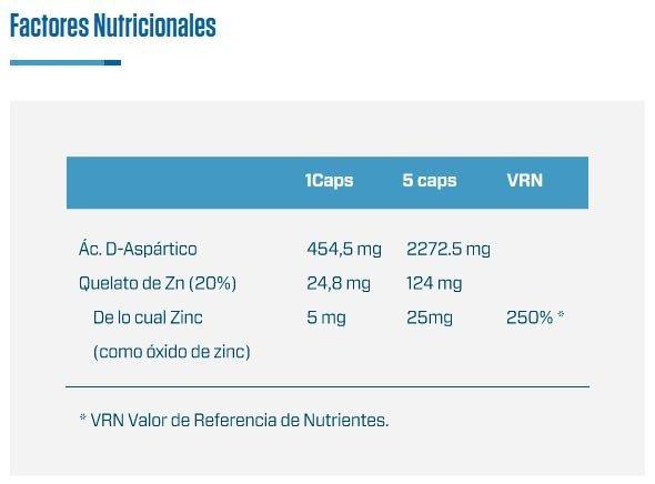 DAA-D-Aspartic-Acid-Quamtrax-información-nutricional