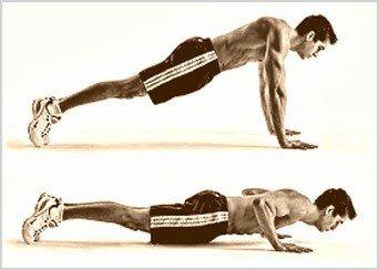 flexiones pectorales