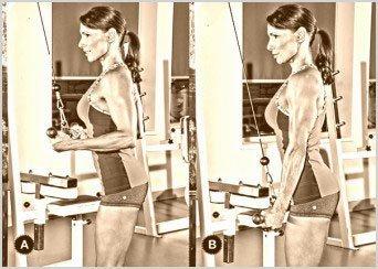extension de triceps en polea