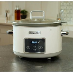 CrockPot Olla Digital Duraceramic Blanca 5L