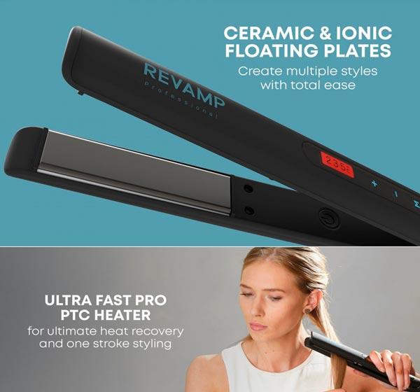 REVAMP Progloss Touch Digital plancha de pelo ionica de ceramica