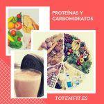 proteinas y carbohidratos